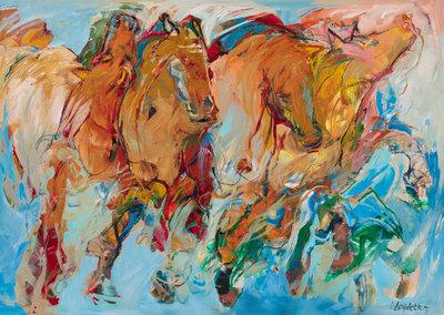 Wild horses - 140 x 100 cm