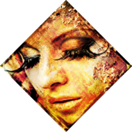 Woman-with-Showy-Eyelashes-Fotokunst-vrouw
