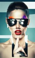 The-Sunglasses-Fotokunst-vrouw