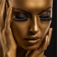 Golden-Fotokunst-vrouw