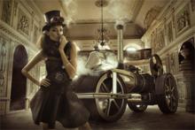 Old-Fashion-Fotokunst-vrouw