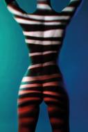 Striped-ll-Fotokunst-vrouw