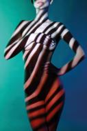 Striped-Fotokunst-vrouw