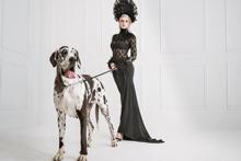 Fotokunst--vrouw-met-hond