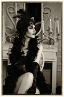 Showgirl-Fotokunst-vrouw