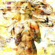 Sensually-Yellow-Fotokunst-vrouw