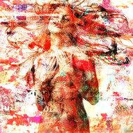 Sensually-Red-Fotokunst-vrouw