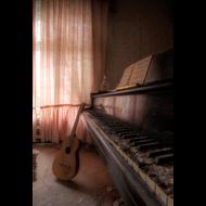 Fotokunst-muziek-|-Fotokunst-piano-en-gitaar