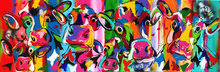 Koeien-met-kalf-180-x-60-cm